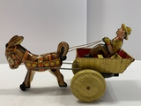 Marx Donkey, Cart, & Driver Wind-up Toy
