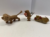 Three Japan Wind-up Toys (Lion, Monkey, Cat)