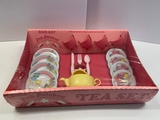 Ohio Art Pink Rainbow Sunnis Miss Tea Set