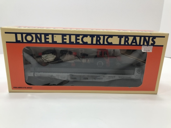 Lionel Flatcar with Farm Tractors 6-16907
