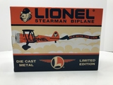 Lionel Limited Edition Stearman Biplane Stock #291