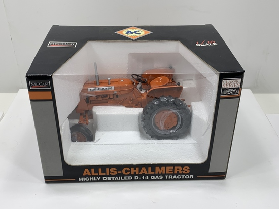 Allis-Chalmers Highly Detailed D-14 Gas Tractor, SpecCast, 1/16th scale, NIB