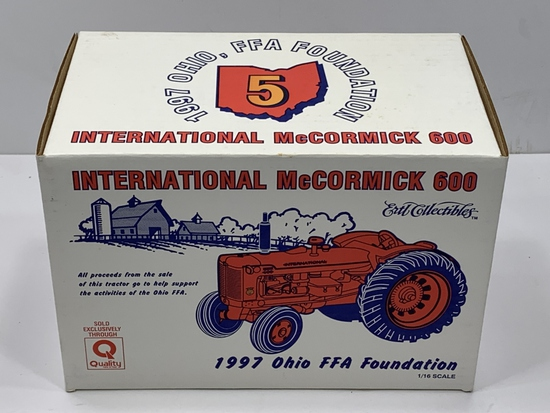 International McCormick 600 Ertl Collectibles 1997 Ohio FFA Foundation, 1/16th Scale, NIB