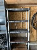 5 Shelf Plastic Shelving Unit