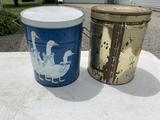 Electric Fondue machine, promotional tins,  small stool