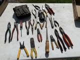 Wire Cutters, Wire Strippers w/ tool bag