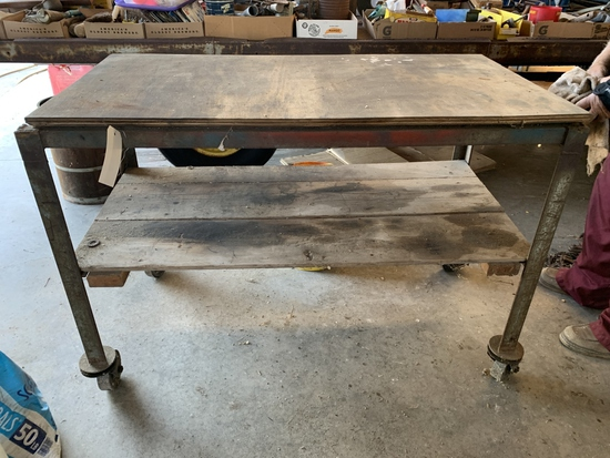 Shop Table on Wheels