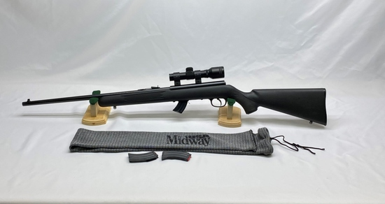 Savage Mark II 22 Cal LR Only with Scope & 2 Extra Clips with Sleeve