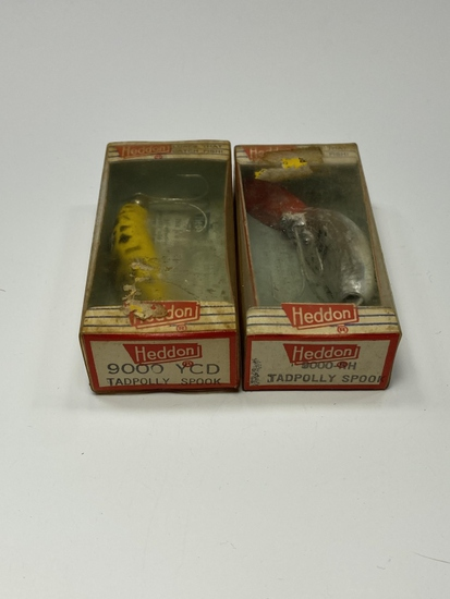 (2) Heddon 9000-RH/YCD Tadpolly Spook
