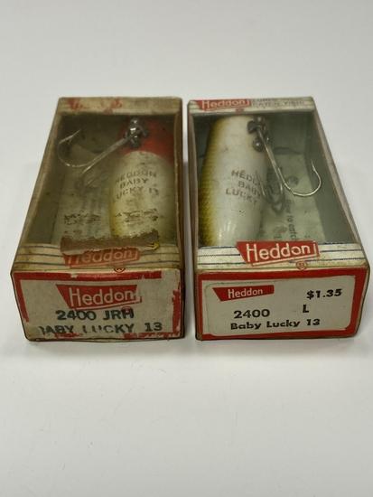 (2) Heddon 2400 JRH/L Baby Lucky 13