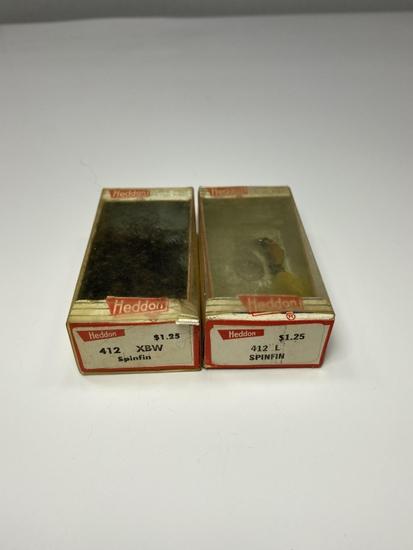 (2) Heddon 412 L/XBW Spinfin Lures