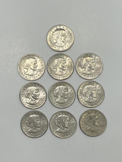 (10) Susan B Anthony Dollars