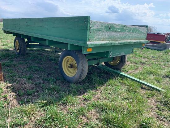 John Deere Running Gear Flatbed Wagon