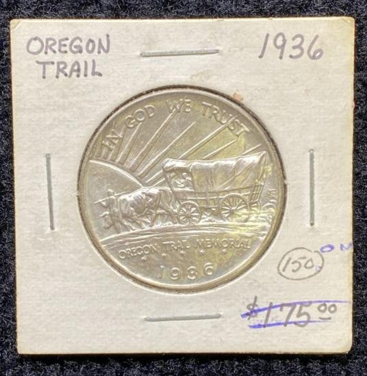 1936 Oregon Trail Memorial Half Dollar