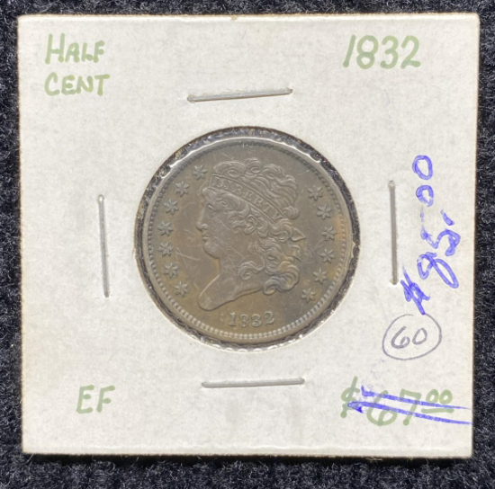 1832 Half Cent
