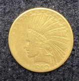 1910 S Indian Head Gold $10 Coin
