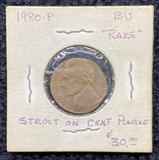 1980 P Struct on Cent Planchet