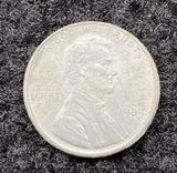 1983 Unplated Planchet Lincoln Cent Error Coin