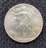 1989 Walking Liberty 1 oz Silver Dollar Coin