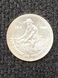 1986 American Prospector 1Troy Ounce Silver Coin .999 Fine Silver