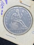 1858 Seated Half Dollar