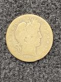 1897 S Barber Half Dollar