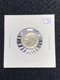 1982 Roosevelt Dime No P Mint Mark Error Coin