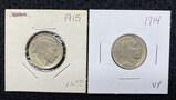 (2) Buffalo Nickels