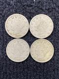 (4) Liberty Head V Nickels