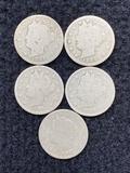 (5) V Nickels