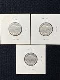 (3) Buffalo Nickels