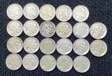 (22) Buffalo Nickels