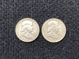 1952 & 1963 Franklin Half Dollar