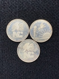 (3) 1 oz Troy Silver .999 NC National Commercial Coins