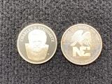 (1) 1 Troy Oz Silver NC Coin & (1) Steinmetz Token