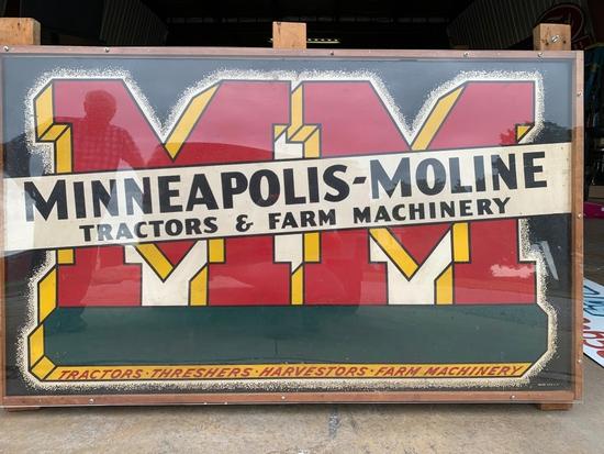 "Minneapolis Moline Dealer Sign From Leo Siebenaler, Hicksville Ohio 36""x60"""