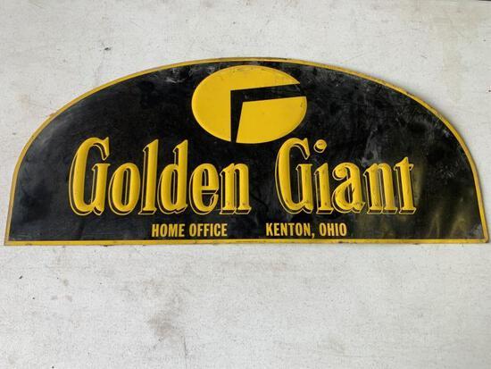 """Golden Giant Metal Sign 13""""x30"""""""