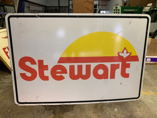 Stewart Seed Sign Metal, 6'x4', One Sided