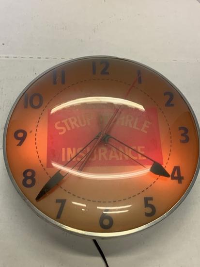 Strup-wehrle Insurance Lighted Clock