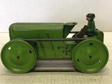 Louis Marx Wind Up Crawler Tractor With Driver