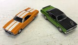 2 Cars, Ertl 1969 Dodge Charger, 1971 Plymouth Duster