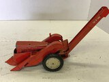 Tru Scale Tractor With 2 Row Mounted Picker, Good Condition