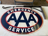 Aaa Emergency Service Sign Double Sided, With Hanging Bracket, 36
