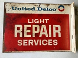 United Delco Repair Service Sign 22