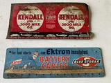 Ektron Battery Cable Sales Header, Kendall 2000 Mile Oil Sign