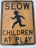 Slow Children At Play Sign 18