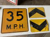 35 Mph Sign,24