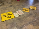 Road Signs, High Water, Loose Gravel, No Parking, Load Limit