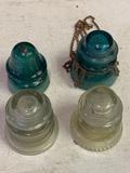 4-hemingray Glass Insulators