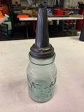 Atlas Glass Jar Masters Oil Funnel